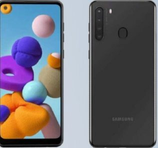 Samsung A21 full render surface online with specs 46